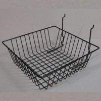 China Acryl Display Black Powder Coated Wire Basket on sale