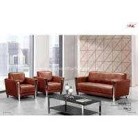 Reception leather office sofa