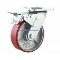 Buy cheap Polyurethane on Iron Swivel Casters with Total Lock Brake from wholesalers
