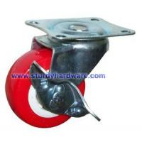 Buy cheap Food Service Casters Red Polyurethane on Polyolefin Wheel from wholesalers