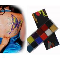 Best Pigmented Cosmetic Face And Body Paint Oil Based Makeup With 12 Colors wholesale