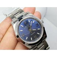 China Fake Rolex Air-King Stainless Steel Strap Blue Dial Mens Design Watch on sale