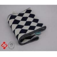 Best Black and white fashion scarf with diamond-shaped jacquard wholesale