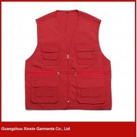 Best 2016 Red color man Sleeveless cheap safety vest, work vest (V06) wholesale