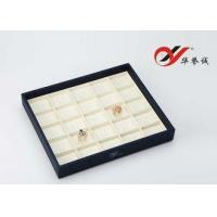 Buy cheap Blue 25 Crossed Jewelry Display Trays MDF Wood Type For Ring Show ISO 9001 Certified from wholesalers