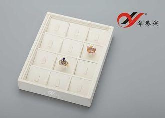 Cheap ODM / OEM Jewelry Ring Tray 12 Slots 12 Hooks For Jewelry Exhibition for sale