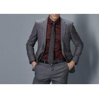 Buy cheap Cotton Formal Male Grey 2 Piece SuitTwo Straight Pockets S--XXXL Size Regular Fit from wholesalers