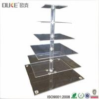 China Mirrored 6 Tiers Small Acrylic Cake Stands For Wedding Cakes on sale