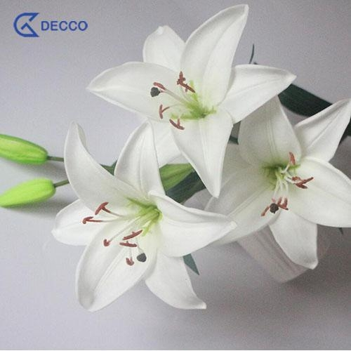 Cheap Artificial flower 5 Heads PU Lily for sale