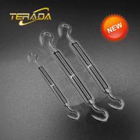 Best 316 Stainless Steel 1 Inch Thread Heavy Duty Hook and Hook US Type Forged Turnbuckle wholesale