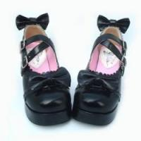 Buy cheap Apparel & Accessories Amanda99 7.5cm Heel With 3cm Platform Black PU Lolita Shoes from wholesalers