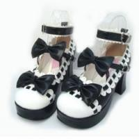 Buy cheap Amanda99 7.5cm Heel With 3cm Platform Black And White PU Lolita Shoes from wholesalers