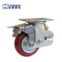 Single Spring PU Korean Shock Absorbing caster with brake