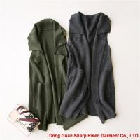 China women's knitted cardigan vest 1706287 on sale