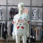 Buy cheap Cashmere Sweater Ladies Lace Printing Design Pullover 07-2144 from wholesalers