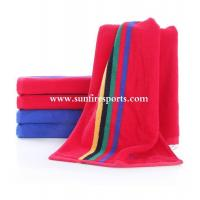 China Sports Towels wholesale 100% Cotton Custom reactive printed beach towels on sale