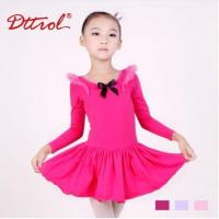 China Costume Collection Product name:Support-Dance Girls Long Sleeve Bow Ballet Dress DB85 on sale