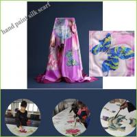China Hand Paint Silk Scarf on sale