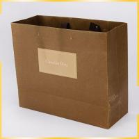 Best Cheap Custom Printed Personalized Brown Paper Bags in bulk For Sale wholesale