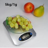 Tempered glass digital kitchen scale with capacity 5kg*1g food cooking scale