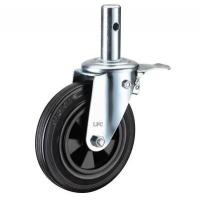 Buy cheap LFC I188-Y BLACK RUBBER SCAFFOLDING WHEELS - ROUND STEM CASTERS from wholesalers