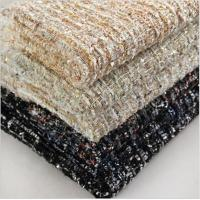China polyester 100 and polyester wool blend acrylic fancy woolen fabric for coat on sale