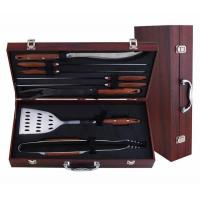 China Wooden case,Bamboo case 8-pc bbq tool sets on sale
