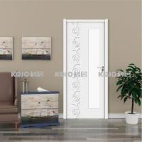 Cheap Wood Plastic Composite WPC Security Painting Door for Bedroom Bathroom Toilet with Glass for sale