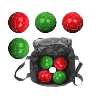 Buy cheap YTP-504 Resin bocce set 8 ball 110mm size red green color from wholesalers