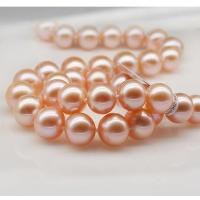 Best 9-10mm fresh water pearl necklace with 18k clasp wholesale