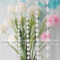 For Event 10MM Crystal Plastic Clasp Beading Chain--YZN005