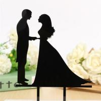 China LMCT-002 Bride & Groom topper Sweet wedding acrylic cake topper for wedding decoration on sale