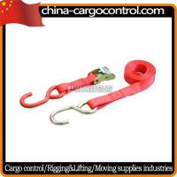 China Ratchet Tie Down 4 Inch ratchet strap with long Aluminous Handle on sale