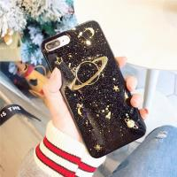 China Apple iPhone Cases Epoxy glitter Saturn iPhone7plus/X Planet Moon tpu Phone Case on sale