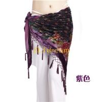 China Belly Dance Hip Scarf ZLTdream Belly Dance Trangular Hip Scarf Grade Velvet on sale