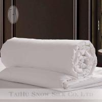 China Taihu Snow Silk white cotton shell 100% mulberry silk handmade quilt on sale