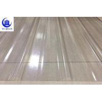 Best Transparent Corrugated Clear Polycarbonate Roofing Sheets Wave Or Trapezoidal Type wholesale