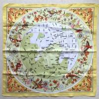 Cheap Map Print Polyester Bandana