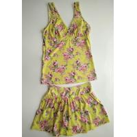 Buy cheap girls fashion flower print and skirt bottom tankini set from wholesalers