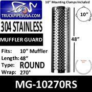 Buy cheap NEW PARTS ADDED MG-10270RS 270 Degree Round Hole Heat Shield with Brackets from wholesalers