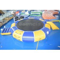 Best 0.9mm PVC Tarpaulin Inflatable Water Trampoline Combo For Water Sports wholesale