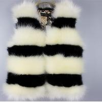 Buy cheap Contemporary Black And White Striped Faux Fur Short Vest For Women from wholesalers