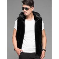 Best Fashion Winter Faux Mink Fur Leather Vest Men Sleeveless Waistcoat Vest Sport Casual Hoodies Jacket wholesale