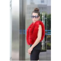 China Fluffy Cute Sleeveless V-neck Faux Fox Short Vest Cape Front Open Cardigan on sale
