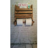 China Wooden Magazine Rack with Toilet Paper Holder on sale