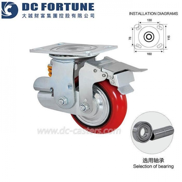 China Shock Absorbing Casters