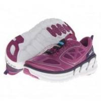Best Hoka One One Women's Conquest Road Running Shoes - Clover/Mulberry/White wholesale