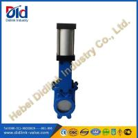 Buy cheap 5 inch Knife gate valve wafer type, Pneumatic actuated gate valve from wholesalers