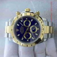 China Rolex Watches Copy Rolex Daytona 40mm Two Tone Blue Dial Mens Watch on sale