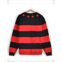 China Red and Black Stripe Thickening Hoodies For Couples on sale
